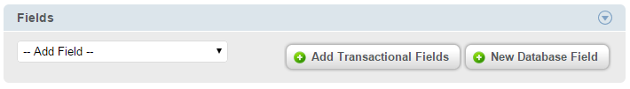 Add Transactional Fields
